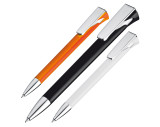 Ball pen with large chromed clip