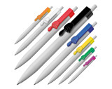 Ball pen with finger pointer clip