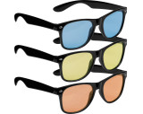 Sunglasses with colored glasses