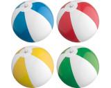 Bicoloured mini beach ball with 21.5 cm segments.