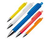 Kunststof pen met reliëfpatroon